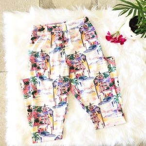 SHEIN VACATION LEGGINGS IN CARIBBEAN COLORS XS